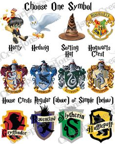 Attractive Harry, Hedwig, The Sorting Hat, The Hogwarts Crest Of One Of The House  Crests