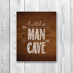 8x10 Little Man Cave Art Print Instant by RebelDesignStudio