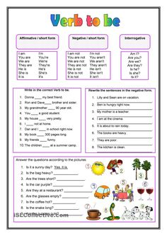Awesome Verb Be Worksheets that you must know, Youre in good company if you?re looking for Verb Be Worksheets English Grammar Worksheets, English Verbs, Kids English, Grammar Lessons, English Lessons, English Vocabulary, Learn English, French Lessons, Spanish Lessons