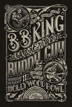 Great Poster to two GREAT Musicians    Blues Poster by Christopher Martin