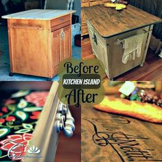 {DIY Kitchen Island} Tutorial & Before/After Photos!