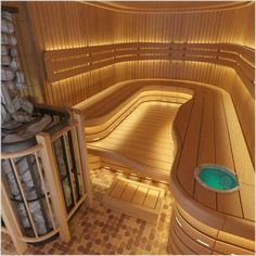 You're able to come across all our saunas by size and saunas by the brand on the site for effortless access and finding what you're looking for. If you put in a sauna in your house, thi… Saunas, Spa Design, House Design, Design Ideas, Sauna Steam Room, Sauna Room, Outdoor Sauna, Outdoor Lighting, Lighting Ideas