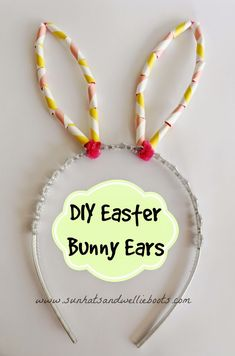 DIY Easter Bunny Ears - with Homemade Beads