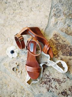 Low Leather Wedge Sandal: http://www.stylemepretty.com/2015/06/11/20-chic-shoes-that-wont-sink-in-the-grass/