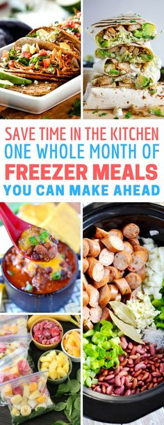 These make ahead freezer meals recipes are so easy to prepare and delicious to eat! Perfect for new moms and busy families!