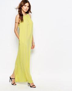 Image 1 ofBCBGMaxAzria Voluminous Halter Maxi Dress (too bag lady?)