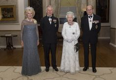 Camilla, Duchess of Cornwall, Prince Charles, Prince of Wales, Queen Elizabeth II and Prince Philip, Duke of Edinburgh pose as they attend a dinner at the Corinthia Palace Hotel in Attard during the Commonwealth Heads of Government Meeting (CHOGM) on November 27, 2015 near Valletta, Malta.