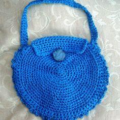 Round Shield, 1960 70's inspired Hand Crocheted Handbag. £12.00