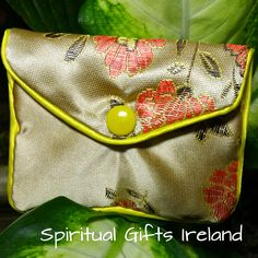 Handcrafted Satin Purse Gold - Spiritual Gifts Ireland.  These gorgeous handmade satin purses are perfect for storing all your crystals and gems. Available in turquoise, gold and red. The inner zipped compartment makes them super safe for travel. Size: 83mm x 68mm Available in 3 colours: Turquoise, Red, Gold. Shop now : www.spiritualgiftsireland.com Follow us on : www.facebook.com/spiritualgiftsireland www.instagram.com/spiritualgiftsireland www.etsy.com/shop/spiritualgiftireland