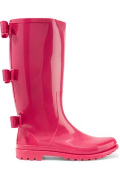 Shop on-sale REDValentino Bow-embellished rubber rain boots. Browse other discount designer Boots & more on The Most Fashionable Fashion Outlet, THE OUTNET.COM