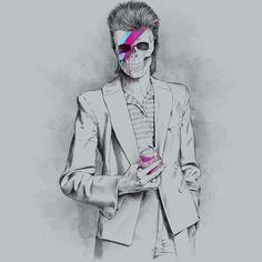 Camiseta 'GLAM ROCK ISN´T DEAD' - Catalogo Camiseteria.com