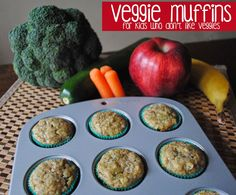 Veggie Muffins for kids who don't like veggies
