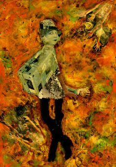 "Saatchi Art Artist CARMEN LUNA; Collage, ""30-Collagemania. Celia Gamez."" #art http://www.saatchiart.com/art-collection/Assemblage-Collage/Collagemania-CARMEN-LUNA/71968/46137/view"