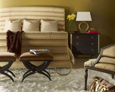 Ferguson Copeland Collection Gramercy King Bed 1023-10K - Gold finish