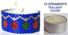 12 CHRISTMAS ORNAMENTS TEA LIGHT CANDLE COVER at Sova-Enterprises.com