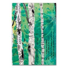 Green Birch Tree Collage Birches Forest Trees Large Business Cards (Pack Of 100)