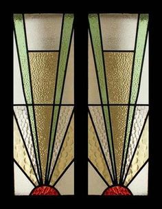 The Very Best Art Deco Sunburst Stained Gl Sidelight Pair Of Windows Designs With Overlays Acetate Hanging From Roof To Replicate Idea