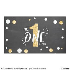 Black Gold Party Mr Onederful Birthday Banner Boy Black Gold - gift idea custom - ♥ A perfect addition to your little one's birthday party! 1st Birthday Invitations Boy, Boys 1st Birthday Cake, Boys First Birthday Party Ideas, First Birthday Banners, Simple First Birthday, Gold First Birthday, First Birthday Gifts, First Birthdays, Happy Birthday
