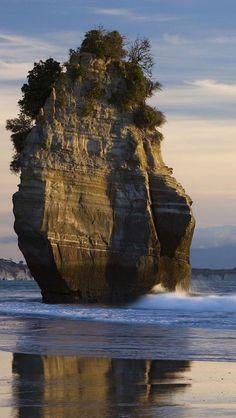 Sea Stack, Mount Taranaki, North Island, New Zealand