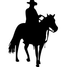 Cowboy with Horse Vinyl Wall Decal Art