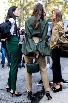 Photo via: Vogue Paris This season, statement sleeves are going to be everywhere. The daring, oversized style is great for switching up your usual silhouette and can be worn with jeans for a more casu