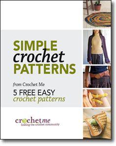 Free Downloadable eBook!  Simple Crochet Patterns: 5 Free Easy Crochet Patterns