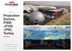 Three Projection Domes with the 360 projection screen were performed by to infatuate the visitors of the massive youth festival Festivali