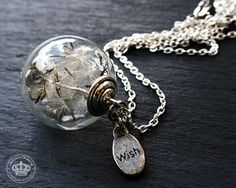Kettingen (lang) - *Make a wish* Necklace with real Dandelions - Een uniek product van JanoschDesigns op DaWanda