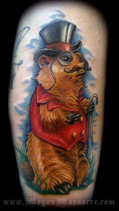 Ground Hog Tattoo by Megan Massacre