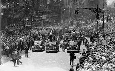 Vintage 1938, Howard Hughes and Mayor Fiorello LaGuardia Ticker Tape Parade, NYC, www.RevWill.com