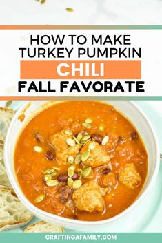 Your family will love delicious pumpkin chili with turkey sausage. You will love all the vegetable goodness packed in the pumpkin and the kidney beans. Simple to put together, and quick to cook you will have dinner on the table in no time. #chili #turkeychili #pumpkinchili #pumpkinrecipe Fall Dinner Recipes, Dinner Recipes Easy Quick, Easy Meals, Easy Recipes, Pumpkin Chili, Best Pumpkin, Healthy Recipes, Soup Recipes, Healthy Food