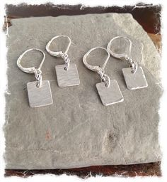 Sterling Silver  Small Hammered Handmade Earrings  by HodelMcRae