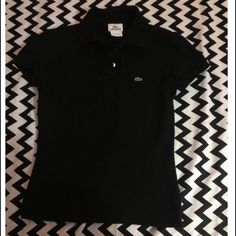 ⬇️Price lowered⬇ ️Black Lacoste Polo Black Lacoste Polo size 36(EUR) 4(USA) Lacoste Tops