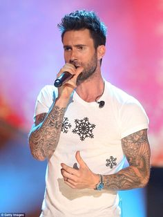 'Tis the season: The Maroon 5 frontman was just one of the acts that performed at the Chr...