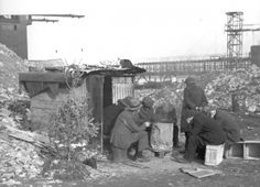 """One called """"Hardlucksville"""" formed off 10th Street next to the East River (at left). Five men resided there, selling firewood culled from the river:"""