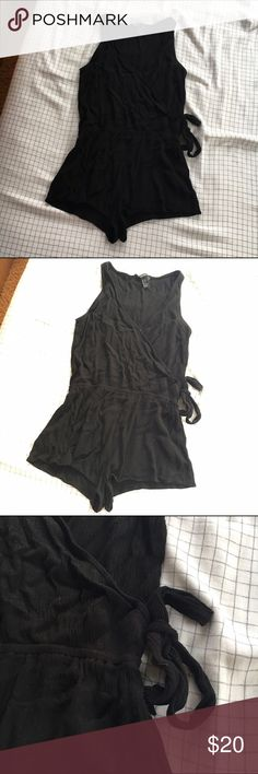 BLK romper Worn a few times and washed. No trades. Please make me an offer! Want to sell as fast as possible! Forever 21 Dresses Mini