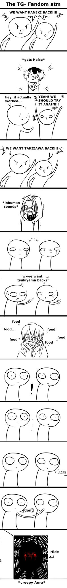 Accurate ||| Tokyo Ghoul Fans, Kaneki, Sasaki, Takizawa, and Hide ||| Tokyo Ghoul: Re Fan Art