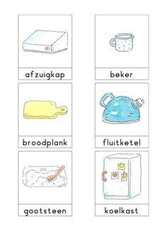 Woordkaarten Bas 'De keuken' 1 Learn Dutch, Dutch Netherlands, Restaurant Themes, Home Themes, Kindergarten Themes, Paper Dolls, Teaching, Activities, School