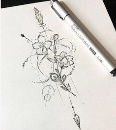 29 ideas tattoo mandala female back - diy tattoo images New Tattoos, Body Art Tattoos, Tattoo Drawings, Small Tattoos, Tatoos, Time Tattoos, Tattoo Sketches, Form Tattoo, Shape Tattoo