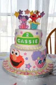 Elmo and Abby Cake for Cassie's 2nd birthday designed by The Sweetest Soiree.  It tasted as good as it looks!