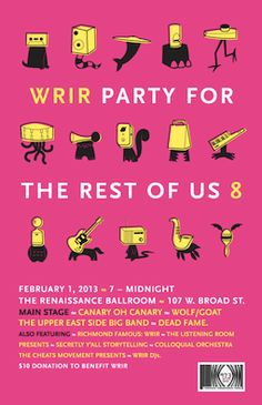 #Party4TheRestOfUs8 - WRIR is the only station crazy enough to bring you all this entertainment in 5 hours! Join us.