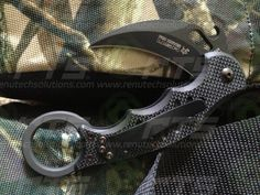 599 FOX Karambit Black G10 Fighting Knife Emerson Wave (Size: M - XL)