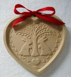 Vintage Hearts 'N Bunnies Cookie Mold Brown Bag Cookie Art Hill Design 1989 | eBay