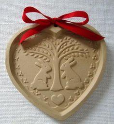 Vintage Hearts 'N Bunnies Cookie Mold Brown Bag Cookie Art Hill Design 1989   eBay