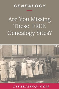 It' a baker's dozen of free genealogy websites to help you find your ancestors! Let's be frugal genealogy researchers.
