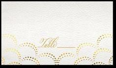 Gilded Scallop place card - Wedding Paper Divas