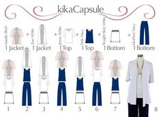 These 6 pieces mix-and-match to create at least 12 outfits. KikaPaprika clothing.