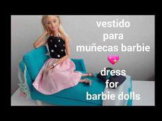 Manualidad : Vestido para muñecas barbie DIY dress for barbie dolls - YouTube