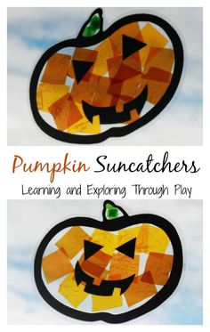 Learning and Exploring Through Play: Pumpkin Suncatcher Autumn Craft