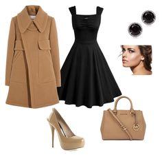 """""""Conjunto negro y beige adecuado para lucir espectacular."""" by mama-superstar on Polyvore featuring moda, Chloé, Michael Kors y Kobelli"""